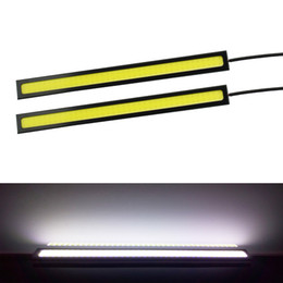 Wholesale Led Car Day Lights - 100% Waterproof 2PCS 17CM Ultra-thin COB Chip LED Daytime Running Light DRL Fog car lights car styling car day running lights