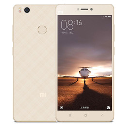 Wholesale Water Proof Mp3 - Original Xiaomi Mi4s Snapdragon 808 Hexa Core 64bit Fingerprint ID FDD LTE 4G 3GB RAM 64GB ROM 13.0MP 5.0inch MIUI 7 Android Mobile Phones