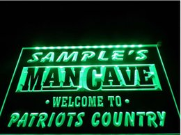 Wholesale Pub Restaurant - tm18 Name Personalized Custom Man Cave Patriots Country Pub Bar Beer Neon Sign hang sign home decor crafts