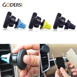 Wholesale Celular S5 - Wholesale-360 degrees Universal magnetic mobile phone holder for iphone 6s car air vent magnet holder stand for S5 suport celular carro
