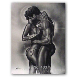Wholesale Home Decorative Gifts - New Arrival Abstract Deep Love Poster African American Art Print Painting Home Decoration Decorative HD Printed Wall Pictures Christmas Gift