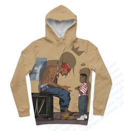 Wholesale Oem Hoodies - Wholesale- Real USA size Tupac x Kendrick Lamar 3D Sublimation Print Hoody Hoodie OEM Custom made Clothing