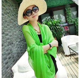 Wholesale Long Scarves For Summer - Wholesale-chiffon scarf 2016 beach scarf female summer autumn scarf long air conditioning cape scarves shawl tippet muffler for women W1