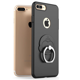 Wholesale Monkey Phone Covers - AIQAA Monkey Ring phone holder phone cases for iphone 7 Plus iphone 6 6s Plus Metallic paint protective Back case covers