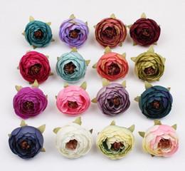 Wholesale Silk Flower Gifts - Simulation artificial false retro camellia bract rose flower heads wedding decoration DIY gift box collage G688