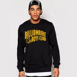 Wholesale Rocky Hoodie - Wholesale- BILLIONAIRE BOYS CLUB 100% COTTON GRAPHIC MENS SWEATSHIRTS PYERX PLAYER ASAP Rocky yeezus coat hoodies outers
