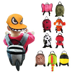 Wholesale Childrens Satchels - Wholesale Animal Toddler School Bags Cartoon Childrens Hiking Backpacks baby Anti lost backpack boys girls Weekend Bag Satchel Bag b1380