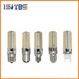 Wholesale E17 Candle Warm White - G9 G4 E11 E12 E14 E17 B15 5W 7W 12W 64LEDs Crystal lamp High End Silicone Body 3014SMD LED light Bulb For Chandelier
