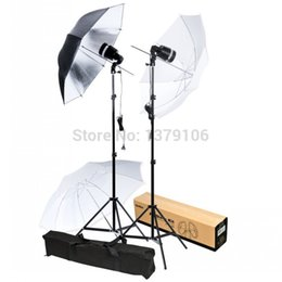 Wholesale Umbrella Flash Stand - Wholesale-Godox SY8000 AC Slave Studio Flash Light Strobe Bulb + Light Socket + Stand Umbrella Photography Lighting Kit
