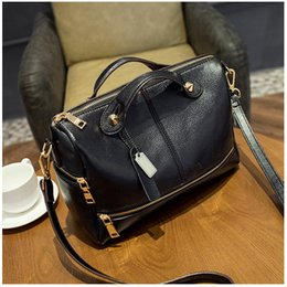 Wholesale Designer Real Leather Tote Bags - Wholesale- 2016 Real Genuine Leather Famous Brand women messenger bags luxury handbags women bags designer bolsa feminina sac a main Tote