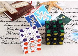 Wholesale Gear Puzzle - 3D Cube Puzzle Magic Cube 3 x 3 x 3 Gears Rotate Puzzle Sticker Adults Child's Educational Toy Cube XT