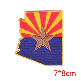 Wholesale Arizona Clothing - ARIZONA STATE FLAG America southwest iron-on embroidered patch state of arizona