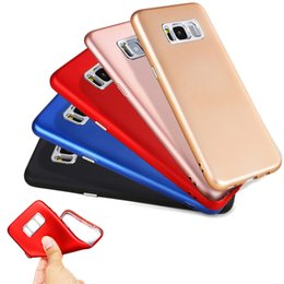 Wholesale Galaxy Camera Hard Case - Soft TPU Metal Paint Case For Samsung Galaxy S8 Plus For IPhone 6 6S 7 Plus with Hard Plastic Camera Protector Buttons Key