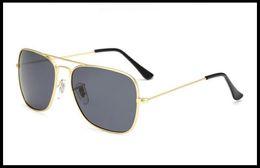 Wholesale Designer Sunglasses Ray - 2017 Hot Fashion caravan Men's Aviation Sun Glasses Vintage Men Brand Designer Mirror Polarized Rays Protection Retro Sunglasses