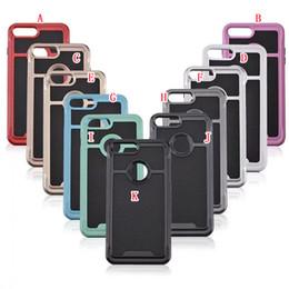 Wholesale iphone carbon fiber bumper - Luxury Hybrid TPU + PC Carbon Fiber Case For Iphone 8 7 Plus I7 6 6S I6 SE 5 5S Dual Color Frame Bumper Fashion Soft phone Skin Cover 100pcs