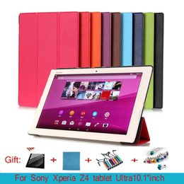 """Wholesale Tablet Xperia Z Leather - for Sony Xperia Z4 tablet Ultra Case 10.1""""inch Flip PU Leather Stand Case for Sony Z4 tablet SGP771 Cover"""