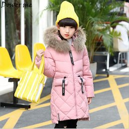 Wholesale Winter Feather Jacket Girls - Fashion winter jacket Girl down Jackets Coats warm Kids baby duck feather Down jacket Children Outerwears cold winter-30degree