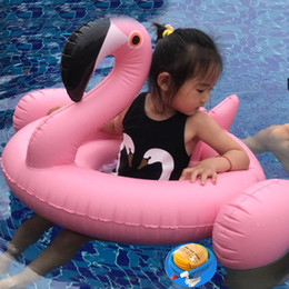 Wholesale Toddler Swimming Rings - Swimming Ring Summer Flamingo Seat Float Inflatable baby Infant Swimming Pool Beach Toys&Toddlers Swim Circle Pool Toys Baby