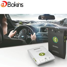 Wholesale Hands Free Bluetooth Speaker - Wholesale-EGTONG 6E Car Kit Bluetooth Speakerphone Handsfree Multifuctional Wireless Music Multipoint Auto Stereo Speaker Phone Hands Free