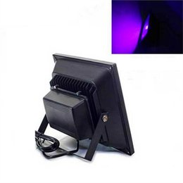 Wholesale Glowing Effects - Ultra Violet Waterproof 85V-265V AC IP65 50w led flood light UV Chip wavelength 395-405nm for Curing Glow Special effects CSI