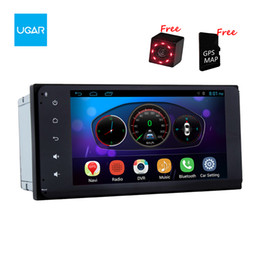 Wholesale Bluetooth For Car Radio - 7 inch for Toyota Innova Hiace Previa Hilus Tacoma Quad Core 1024*600 Android Car GPS Navigation Multimedia Player Radio Bluetooth Wifi
