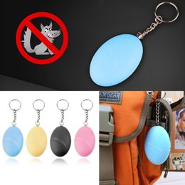 Wholesale Self Protect - Wholesale- Self Defense Keychain Alarm Egg Shape Girl Women Anti-Attack Anti-Rape Security Protect Alert Personal Safety Scream Loud