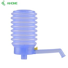 Wholesale Water Dispenser Pumps - Wholesale- Hand Press Drinking Water Pump With Hose Extensions Removable tube Innovative vacuum action Non-toxic Manual Pump Dispenser