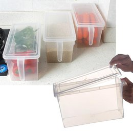 Wholesale Fishing Containers - Food Storage Containers, Fridge Organizer Crisper Case Box with Lid - Keep Fruits Vegetables Fish - Sealed Food Containers