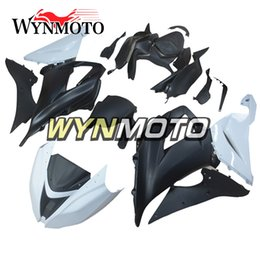 Wholesale Motorcycle Race Fairing Kits - Racing Fairings for Kawasaki ZX-6R ZX6R 2013 - 2016 13 14 15 16 Plastics Injection Motorcycle Fairing Kit ABS Body Kit White Black Cowlings