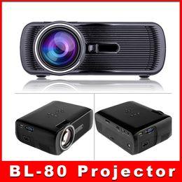 2019 menor tv lcd DHL frete Grátis BL-80 1080 P HD Mini Portátil LED Cinema Projetor de Cinema Em Casa 3D AV USB SD VGA HDMI 1920x1080 LCD Projetores 5 pcs