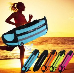 Wholesale Neoprene Mobile Phone Pouches - Universal Waist Bags Running Fanny Pack Pouch Belt Bag Purse Mobile Phone Less Than 6 inch Pocket Case Camping Hiking Sports Bag G0375