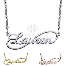 Wholesale Generations Necklace - Infinity Style Name Necklace - Next Generation Collection Name Necklace 316 Stainless Steel Pendant with the Custom Name
