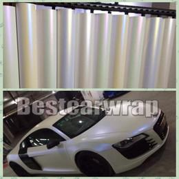 Canada Diverses couleurs Satin blanc perle Vinyle wrap voiture véhicule Wrap autocollants de couverture Colle de faible tack 3M qualité taille 1.52x20m / Roll 5x65ft Offre
