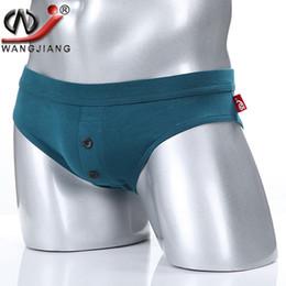 Wholesale Comfortable Underpants - 2017 Man Cotton Briefs Fitness Men Underwear Sexy Low Rise Mens Underpants Comfortable Male Butt Enhancement Calzoncillo