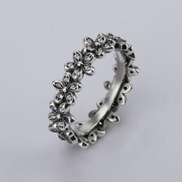Оптовая новый сладкий цветок форма 925 тайский серебряный творческий с женщины партии ясно ювелирные изделия Кольца CZ лук кольцо Fit Pandora женщина кольцо от Поставщики кольца в форме лука