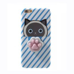 Wholesale Cute Animal Iphone Covers - Fitted Case Cover for iPhone 6S 6S plus 3D Cute Soft TPU Squishy Fundas for iPhone 7 7 plus Animals Back Cover