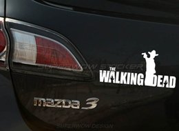 Wholesale Zombie Car Stickers - WALKING DEAD Zombie shiny car stickers Professional car with high-strength reflective film Reflective film carved car stickers