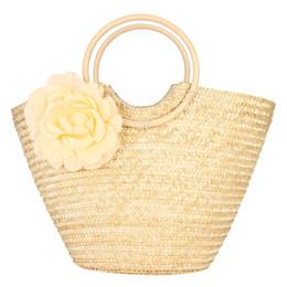 2019 douce fleur de dame Vacances d'été Doux, tricotées, femmes, paille, sac à main en tissu, fleurs, sac de plage, sac à main, sac à dos, sac de voyage, Livraison gratuite douce fleur de dame pas cher