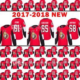 Wholesale Ottawa Hockey - 2017-2018 New Ottawa Senators 61 Mark Stone Jersey 18 Men's 65 Erik Karlsso 68 Mike Hoffman Hockey Jerseys Embroidery