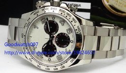 Wholesale Panda Papers - Men's Original Box Papers High Quality PANDA Dial - 116509 RANDOM 40mm ETA 7750 Chronograph Movement Automatic Mens Watch Watches