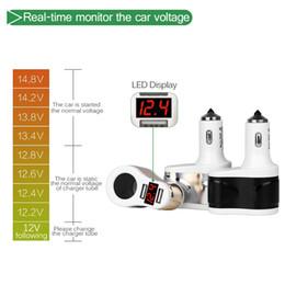 оптовая торговля Скидка Многофункциональный 3.1 A светодиодный дисплей двойной USB автомобильное зарядное устройство адаптер DC12-24V смарт быстрая зарядка для iPhone вождения рекордер таблетки