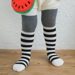 Wholesale Pantyhose Stripe Children - 2017 Children Pantyhose Spring Cotton Slip Stripe Color Baby Tights For Girls Children Tights