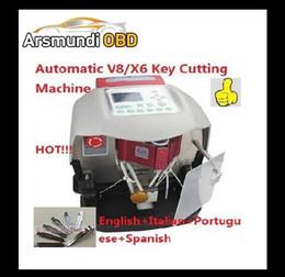 Wholesale Volvo Car Warranty - DHL free shiping Automatic V8X6 Key Cutting Machine X6 Car Key Maker V8Auto Key Programmer Better than slica Miracle A7 3 Years Warranty