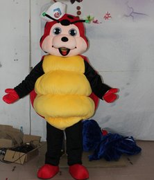 Wholesale Mascot Ladybug Costume - sm0506 100% real photos yellow and red ladybug mascot costume for adult to wear for sale