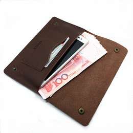 Wholesale Korean Wallets For Mens - GUGLE Famous Brand Mens Real Leather Vintage Manual HASP Design Wallet High Quality Fold Soft leather Long Clutch Bag Phone Wallet For Mans