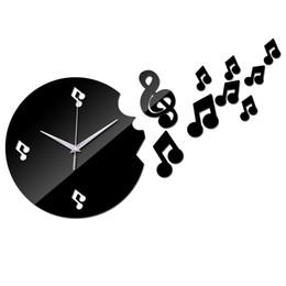 2019 большие желтые часы Оптово-2016 горячие продажи украшения дома акриловые зеркальные часы безопасный современный дизайн новые иглы настенные часы кварцевые часы стикер бесплатная доставка