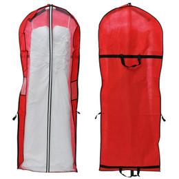 Armadio dell'abbigliamento online-2017 Storage Wedding Dress Bag Cover Cover Custodia protettiva per abito indumento Organizzatore Vacuum Bag Closet Organizer Spedizione gratuita