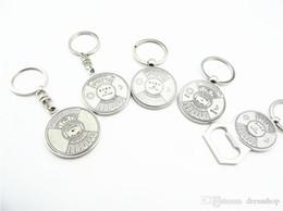 Wholesale Horn Spike - Free shipping Creative calendar compass key chain bottle opener key chain pendant upscale men