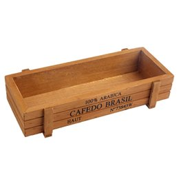 Wholesale Wooden Flower Boxes Wholesale - ZAKKA Style Small Wooden Multifunctional Storage Desk Box For Flowers Plants Table Sundries - Desk Organizer Home decoration