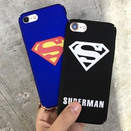 Wholesale Superman Iphone Case Blue - New personality phone case For Apple iphone6 6s 7 8 plus mobile phone shell shield superman scrub anti-wrestling relief cover